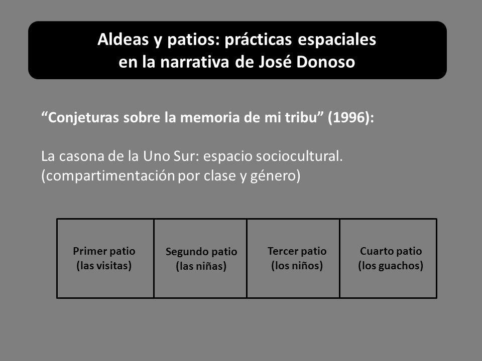 Conjeturas sobre la memoria de mi tribu (1996): La casona de la Uno Sur: espacio sociocultural. (compartimentación por clase y género) Segundo patio (