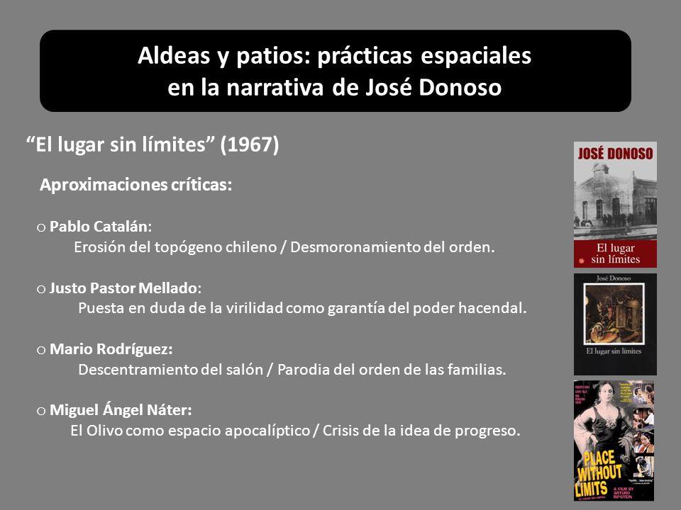 Aproximaciones críticas: o Pablo Catalán: Erosión del topógeno chileno / Desmoronamiento del orden. o Justo Pastor Mellado: Puesta en duda de la viril