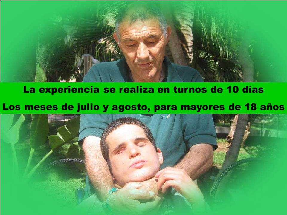 La experiencia se realiza en turnos de 10 días Los meses de julio y agosto, para mayores de 18 años