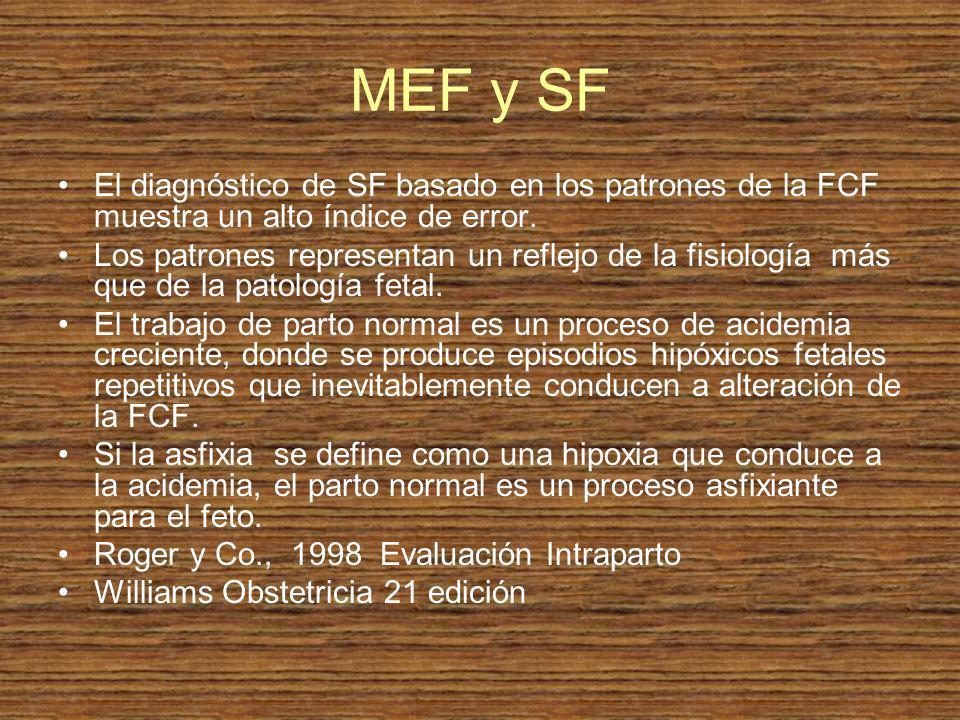 MEF y SF El diagnóstico de SF basado en los patrones de la FCF muestra un alto índice de error. Los patrones representan un reflejo de la fisiología m