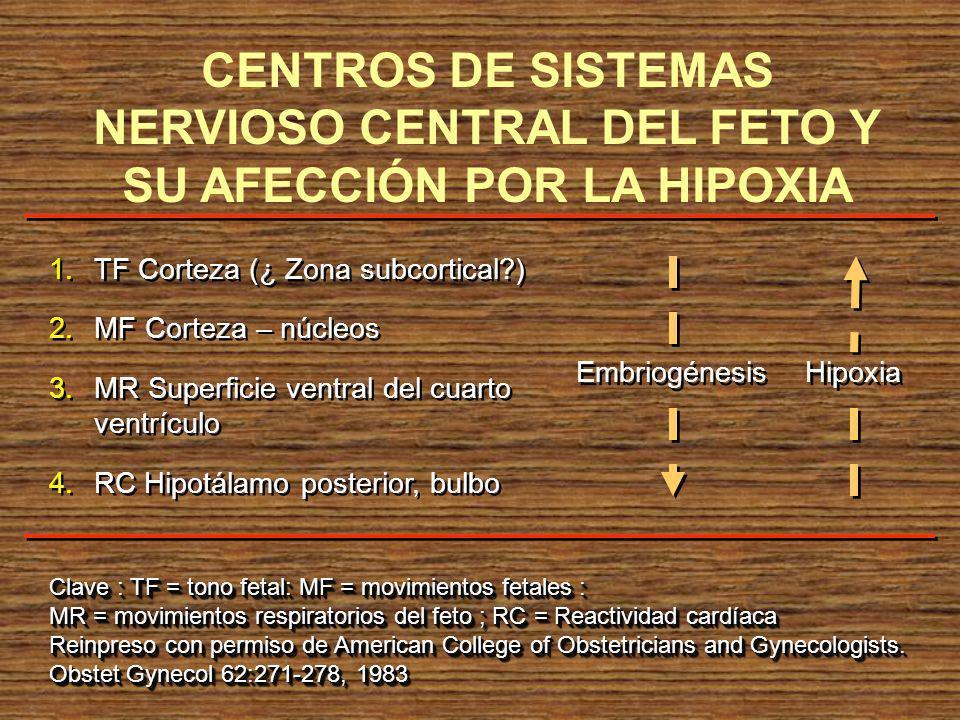 1.TF Corteza (¿ Zona subcortical?) 2.MF Corteza – núcleos 3.MR Superficie ventral del cuarto ventrículo 4.RC Hipotálamo posterior, bulbo 1.TF Corteza