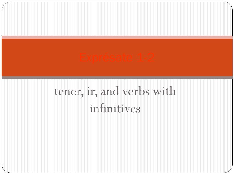tener, ir, and verbs with infinitives Exprésate 1-2