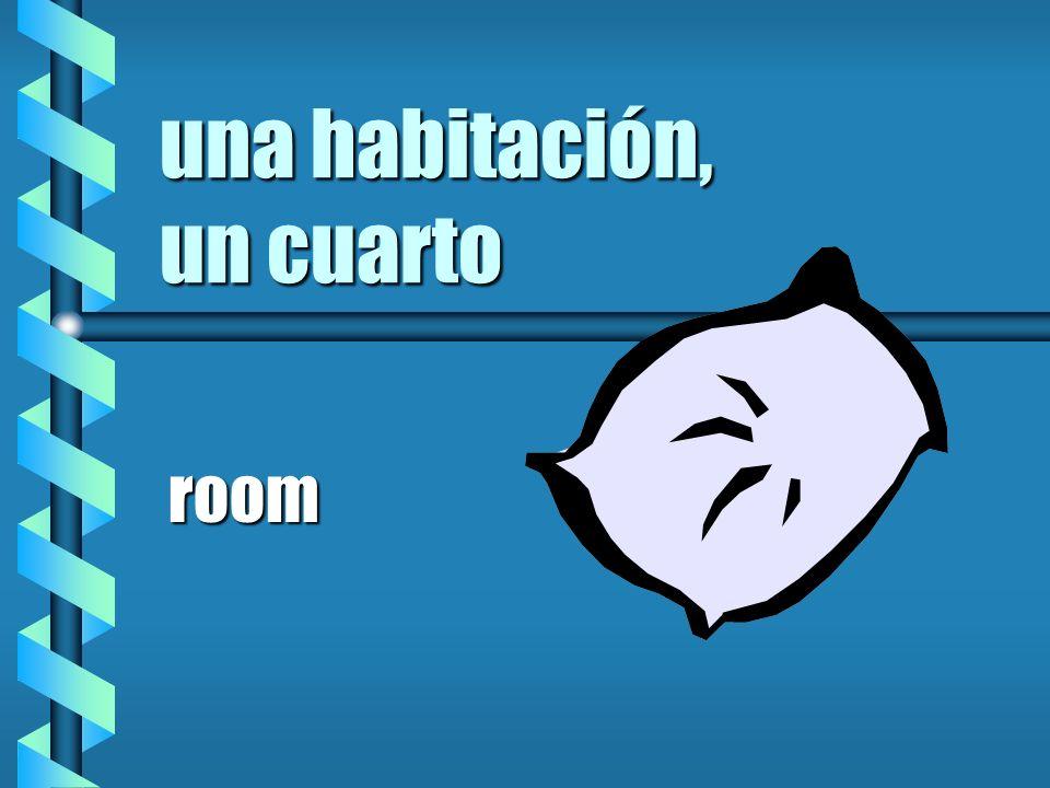 una habitación, un cuarto room