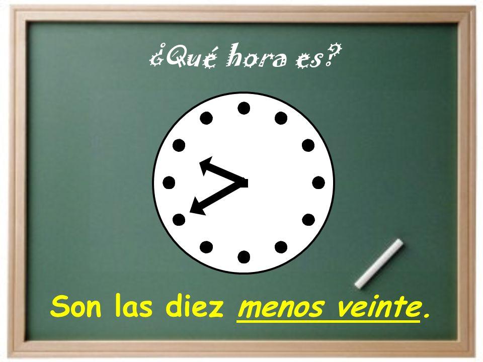 El Reloj (the clock) …y… (and) 12 6 Menos (minus ) cuarto