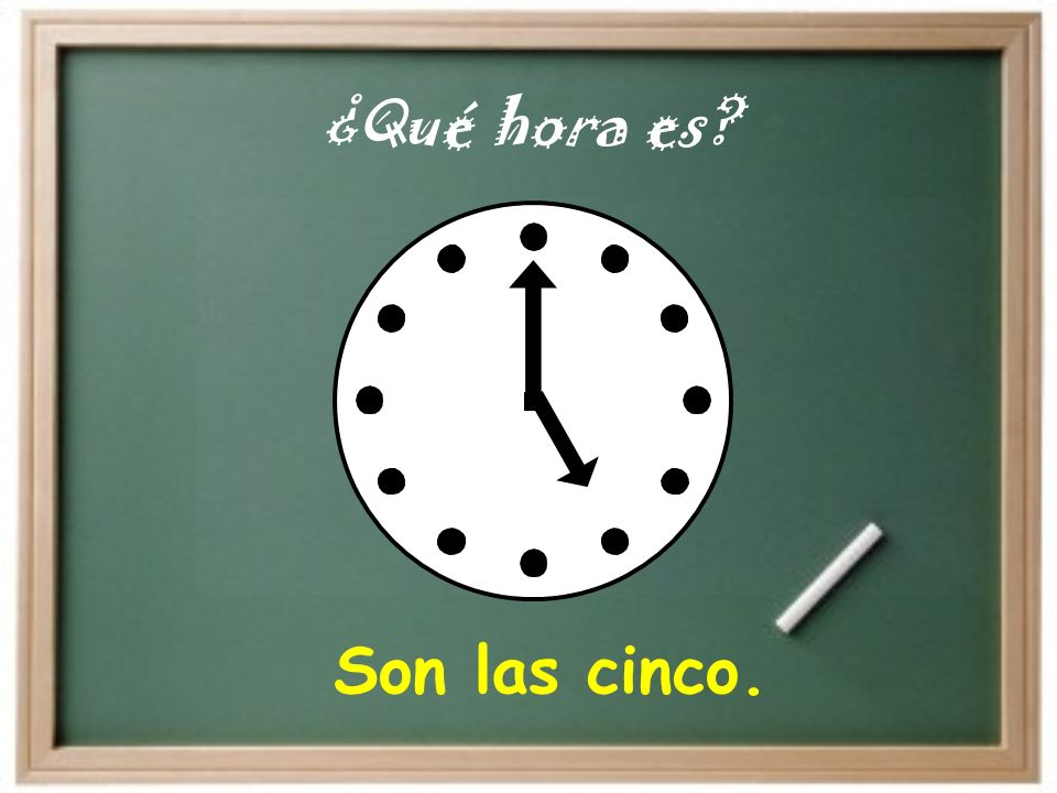 With Whole Hours You are technically counting the hours on the clock … so for one o clock, you would say, Es la una. but for two o clock and fter, you would say, Son las dos.