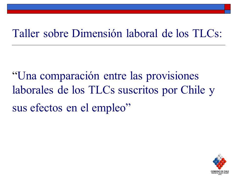 Taller sobre Dimensión laboral de los TLCs:Una comparación entre las provisiones laborales de los TLCs suscritos por Chile y sus efectos en el empleo