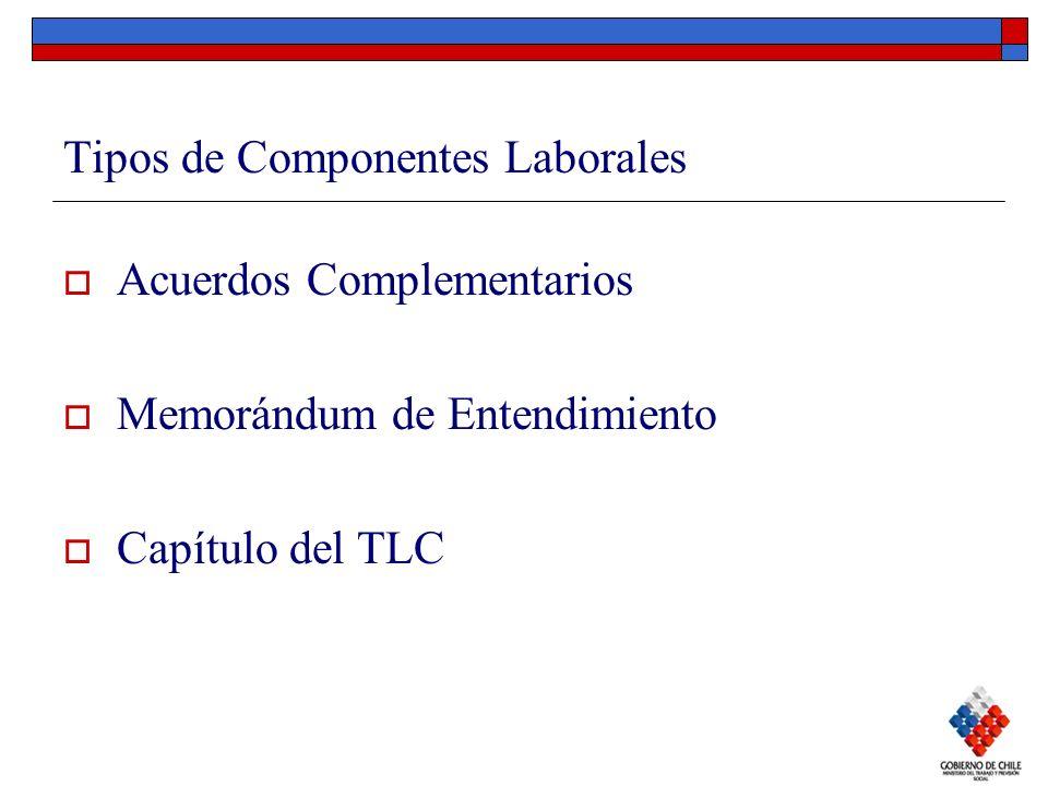Tipos de Componentes Laborales Acuerdos Complementarios Memorándum de Entendimiento Capítulo del TLC