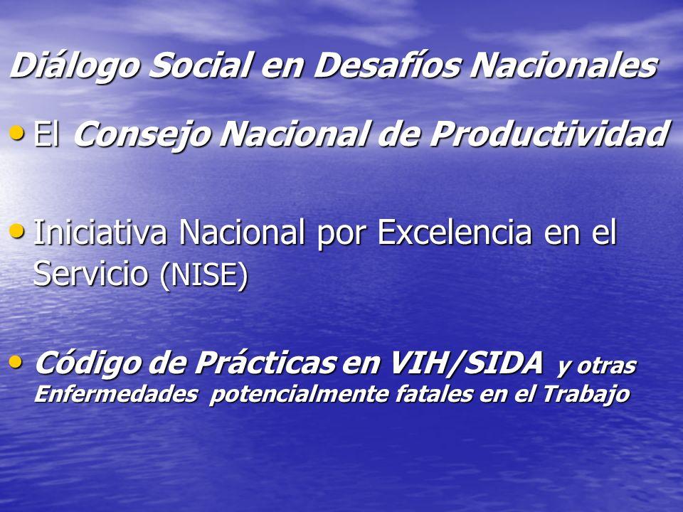 Diálogo Social en Desafíos Nacionales El Consejo Nacional de Productividad El Consejo Nacional de Productividad Iniciativa Nacional por Excelencia en