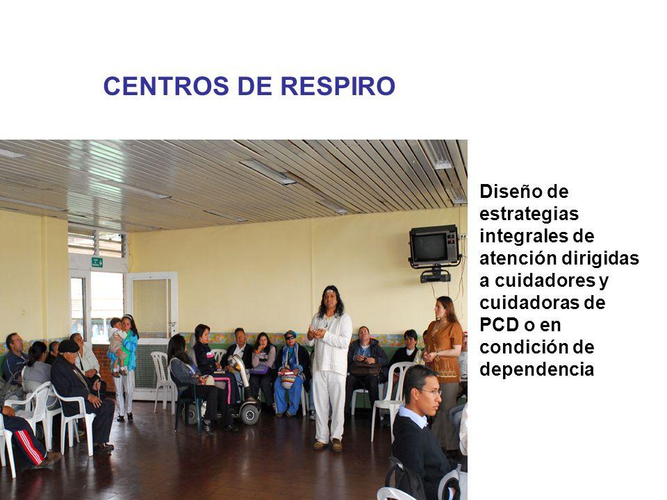 CENTROS DE RESPIRO Diseño de estrategias integrales de atención dirigidas a cuidadores y cuidadoras de PCD o en condición de dependencia