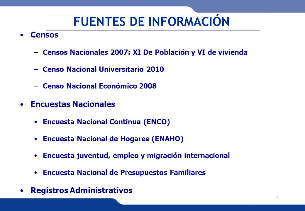 XVI REUNIÓN DEL COMITÉ INTERINSTITUCIONAL DE ESTADÍSTICAS DE MIGRACIONES 5 Medición de la Emigración Internacional: CENSOS NACIONALES 2007 HOGARES CON MIGRACIÓN INTERNACIONAL En los Censos Nacionales 2007: XI de Población y VI de Vivienda, se incluyó por primera vez en la historia de los censos una pregunta para identificar a los hogares con emigración internacional, esta fue: