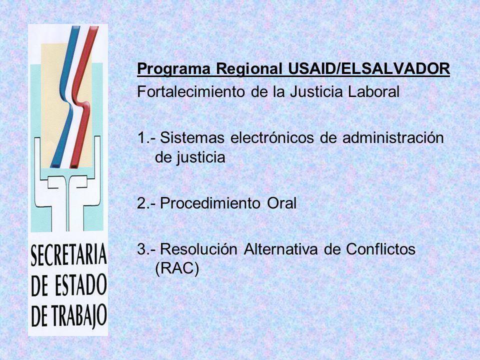 Departamento de Trabajo de los Estados Unidos (USDOL) Fortalecimiento de la Justicia Laboral en Centroamérica y República Dominicana Normas Internacionales de Trabajo Justicia Laboral Sede Administrativa y Judicial DR-CAFTA