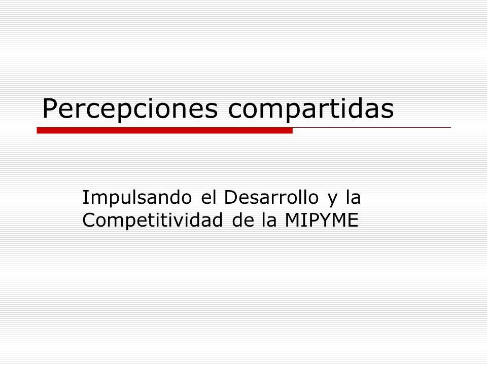 Percepciones compartidas Impulsando el Desarrollo y la Competitividad de la MIPYME