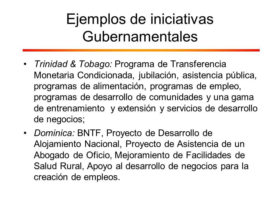 Trinidad & Tobago: Programa de Transferencia Monetaria Condicionada, jubilación, asistencia pública, programas de alimentación, programas de empleo, p
