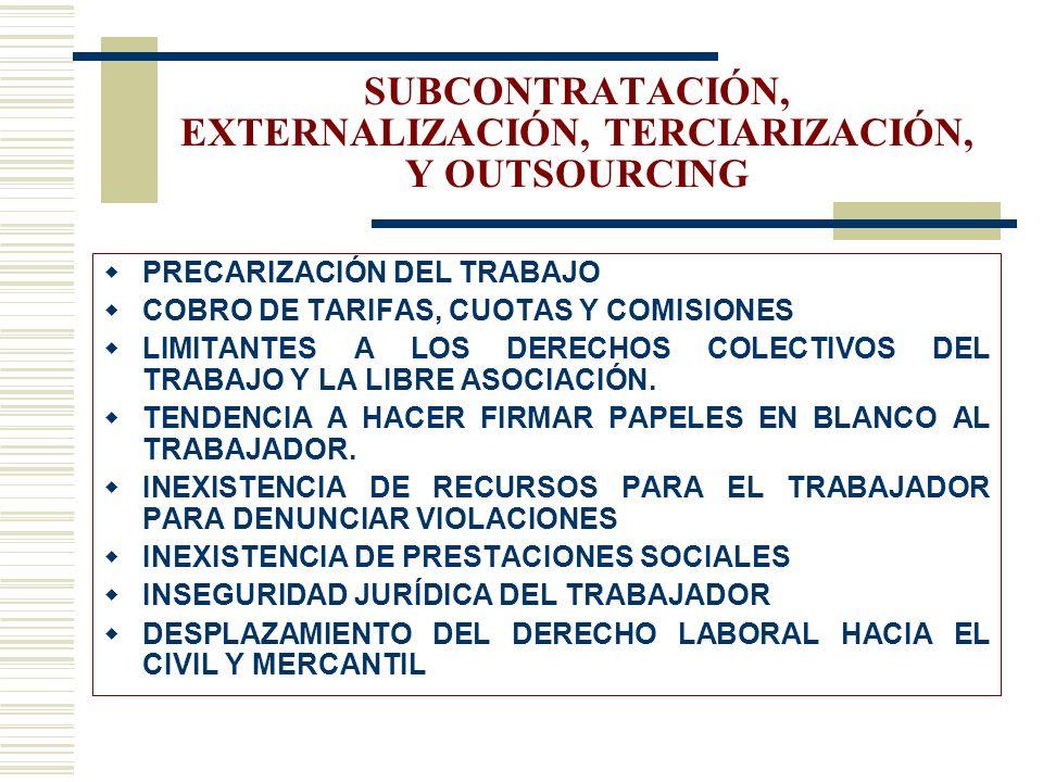 PRINCIPIO FUNDAMENTAL EL TRABAJO NO ES UNA MERCANCÍA OIT