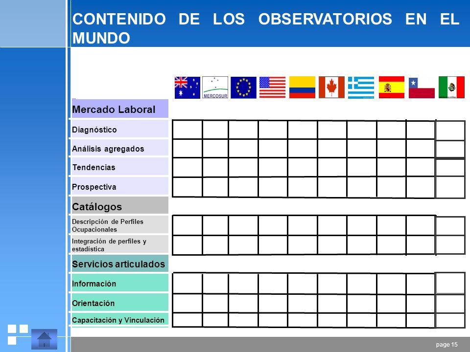 page 14 TENDENCIAS PARTICULARES Densidad de una ocupación en los sectores o ramas de la economía