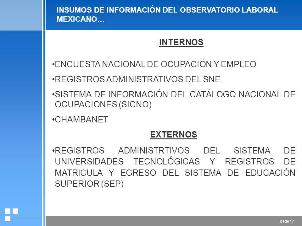 page 16 Matriz Insumo Producto Modelos Econométricos Cuentas Nacionales Censos Registros Administrativos Encuestas Análisis R. A. de Educación Análisi