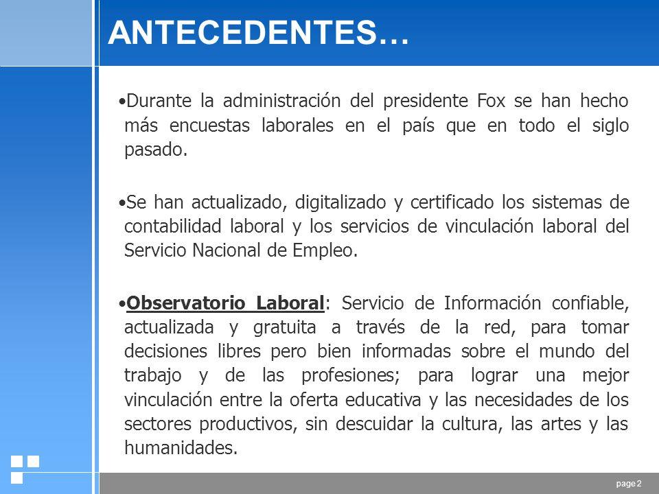 SUBSECRETARÍA DE EMPLEO Y POLÍTICA LABORAL Octubre, 2006