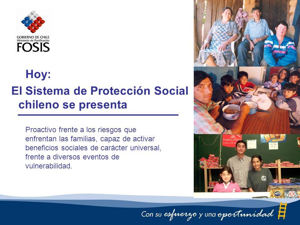 El Sistema de Protección Social Proactivo frente a los riesgos que enfrentan las familias, capaz de activar beneficios sociales de carácter universal, frente a diversos eventos de vulnerabilidad.