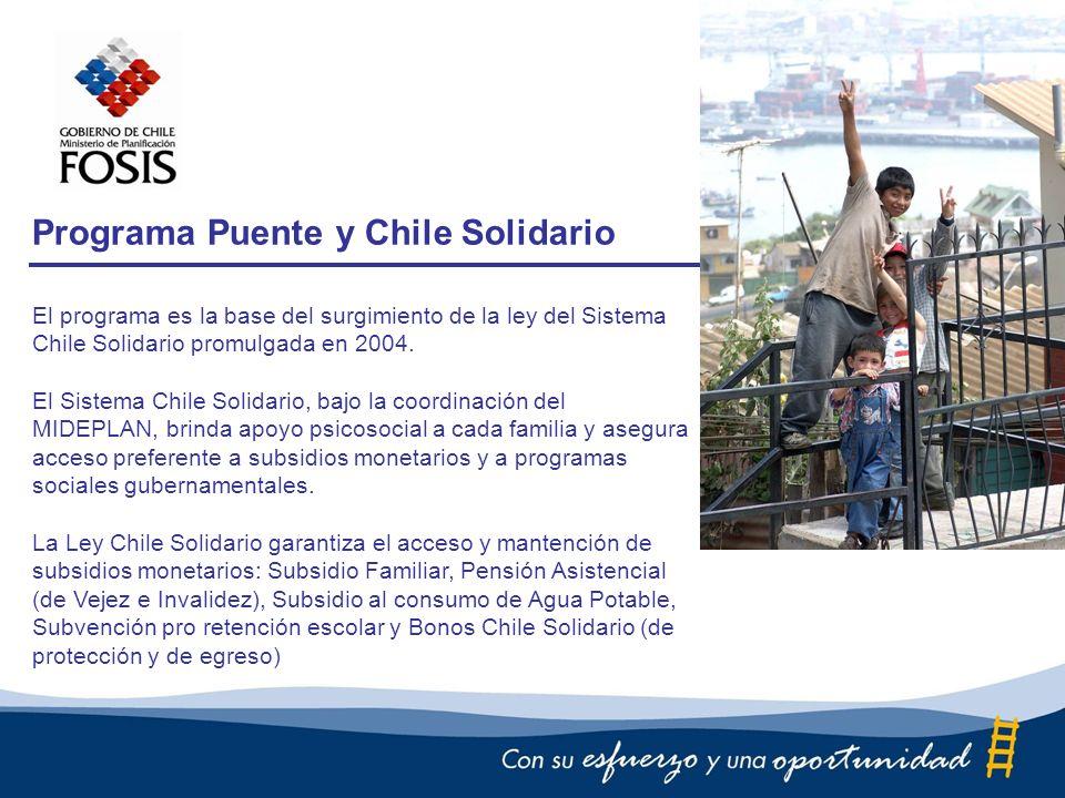 El programa es la base del surgimiento de la ley del Sistema Chile Solidario promulgada en 2004.