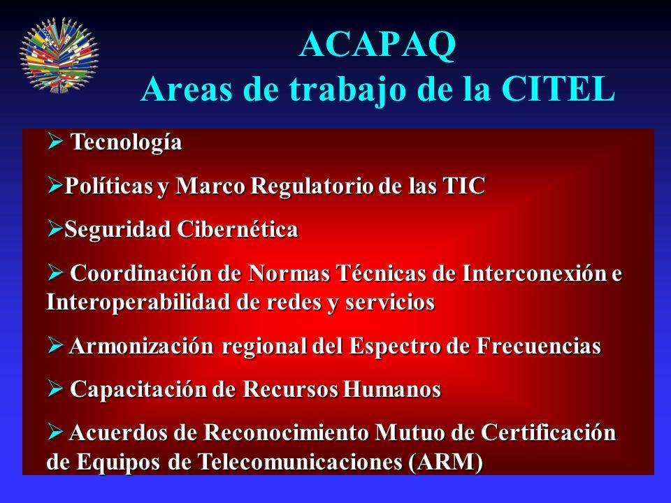 Plan de Acción de Quito Marco Regulatorio para la Sociedad de la Información Acceso equitativo, universal y asequible a la información Diversidad de agentes, pluralidad de ofertas y competencia eficaz Transparencia y claridad Una industria de TIC competitiva Neutralidad tecnológica Fortalecimiento de la seguridad de las redes Respeto a la propiedad intelectual Coordinación de la legislación que rige los sectores de la información y las comunicaciones