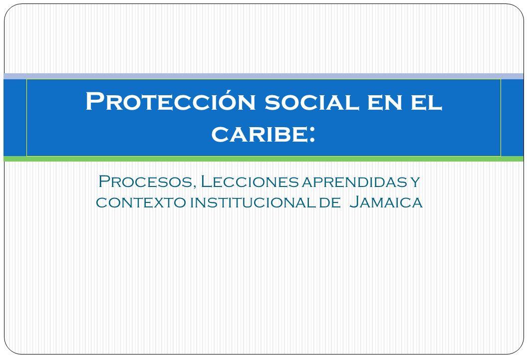 Procesos, Lecciones aprendidas y contexto institucional de Jamaica Protección social en el caribe: