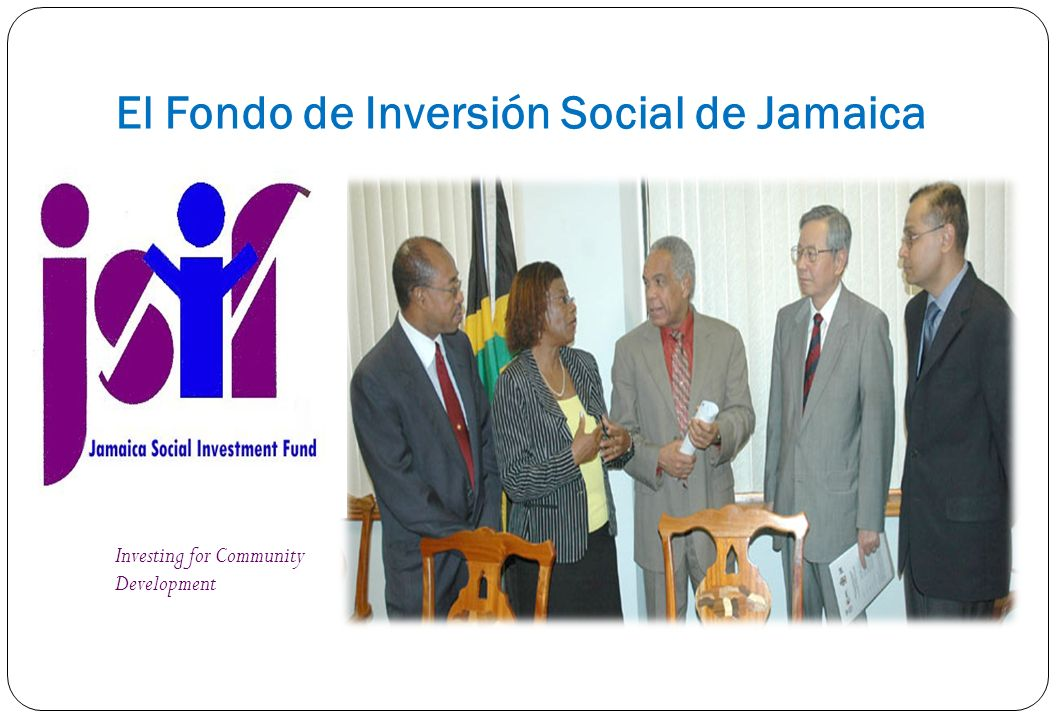 El Fondo de Inversión Social de Jamaica Investing for Community Development