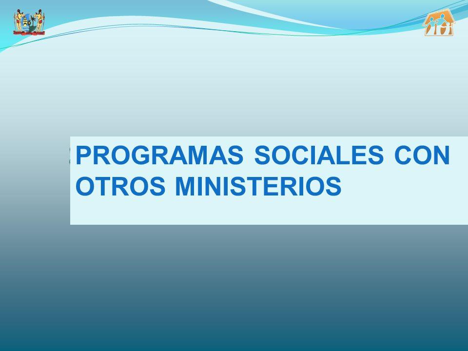 PROGRAMAS SOCIALES CON OTROS MINISTERIOS