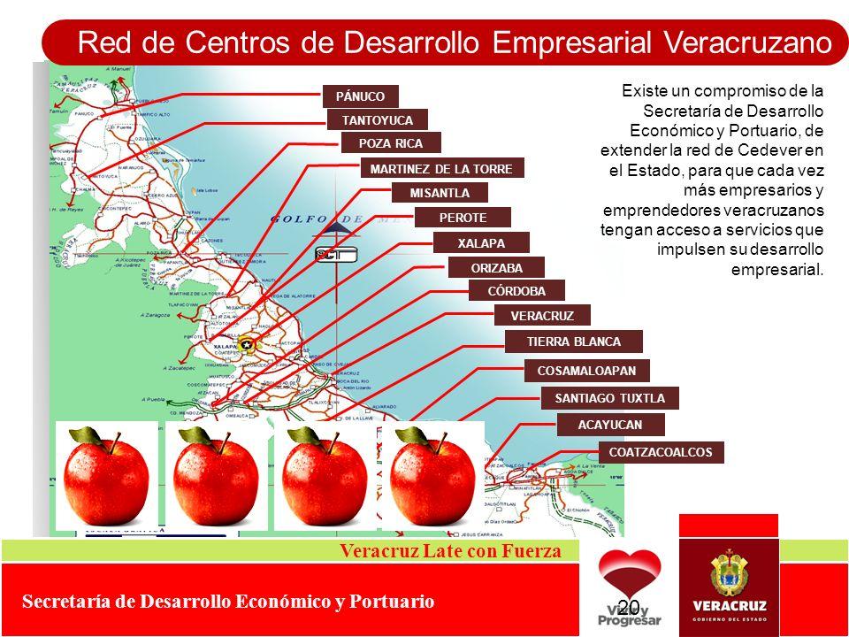 Existe un compromiso de la Secretaría de Desarrollo Económico y Portuario, de extender la red de Cedever en el Estado, para que cada vez más empresari