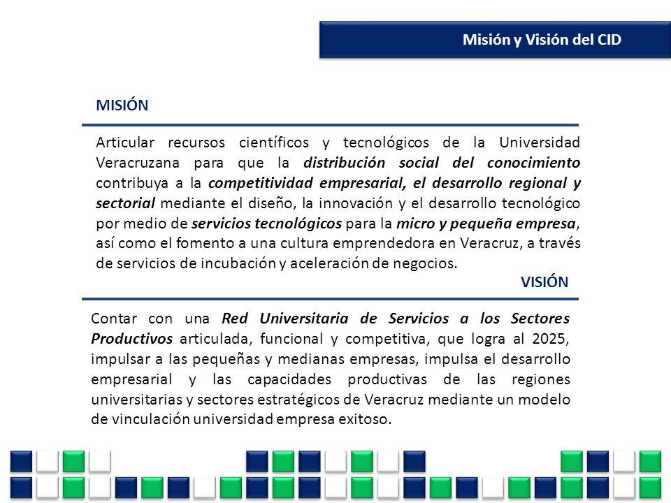 MISIÓN Articular recursos científicos y tecnológicos de la Universidad Veracruzana para que la distribución social del conocimiento contribuya a la co