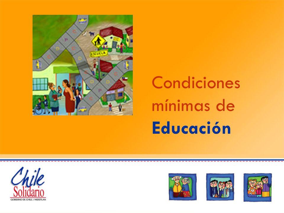 Condiciones mínimas de Educación