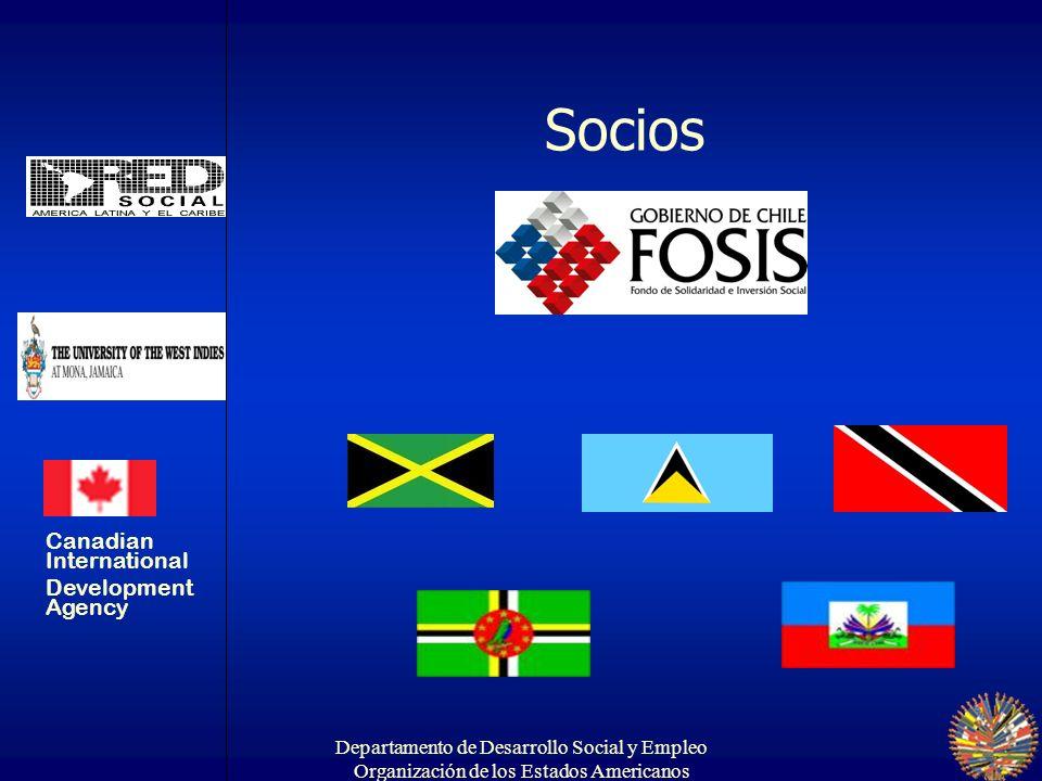 Departamento de Desarrollo Social y Empleo Organización de los Estados Americanos Objetivo específico Realzar la capacidad institucional para desarrollar estrategias de protección social en Jamaica, Trinidad y Tobago y Sta.
