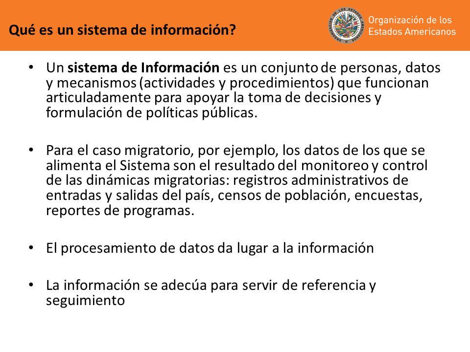 Registros administrativos de entradas y salidas al país: los lleva a cabo la entidad encargada del control migratorio, y denota los movimientos de entradas y salidas.