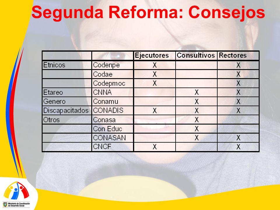 Segunda Reforma: Consejos