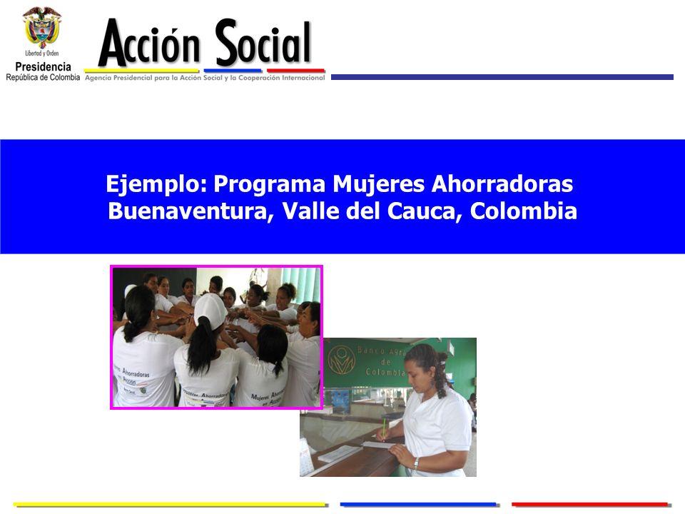 Ejemplo: Programa Mujeres Ahorradoras Buenaventura, Valle del Cauca, Colombia