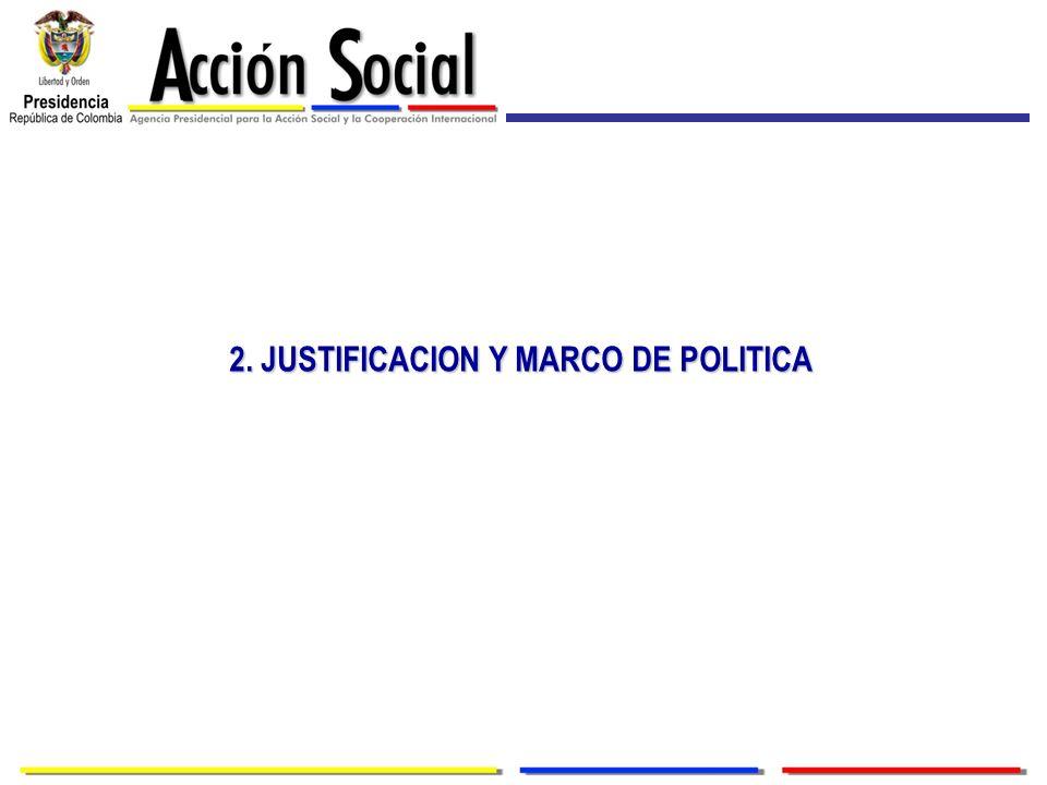 2. JUSTIFICACION Y MARCO DE POLITICA