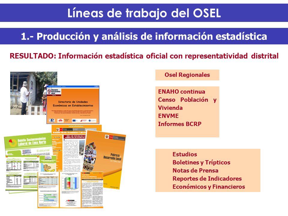1.- Producción y análisis de información estadística Estudios Boletines y Trípticos Notas de Prensa Reportes de Indicadores Económicos y Financieros R