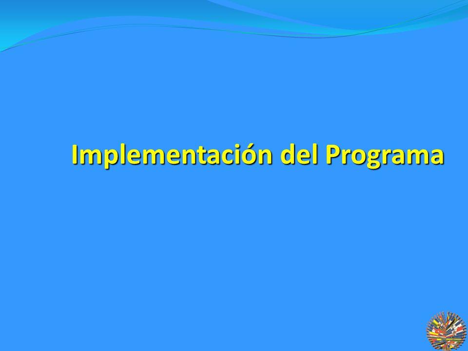 Implementación del Programa Implementación del Programa