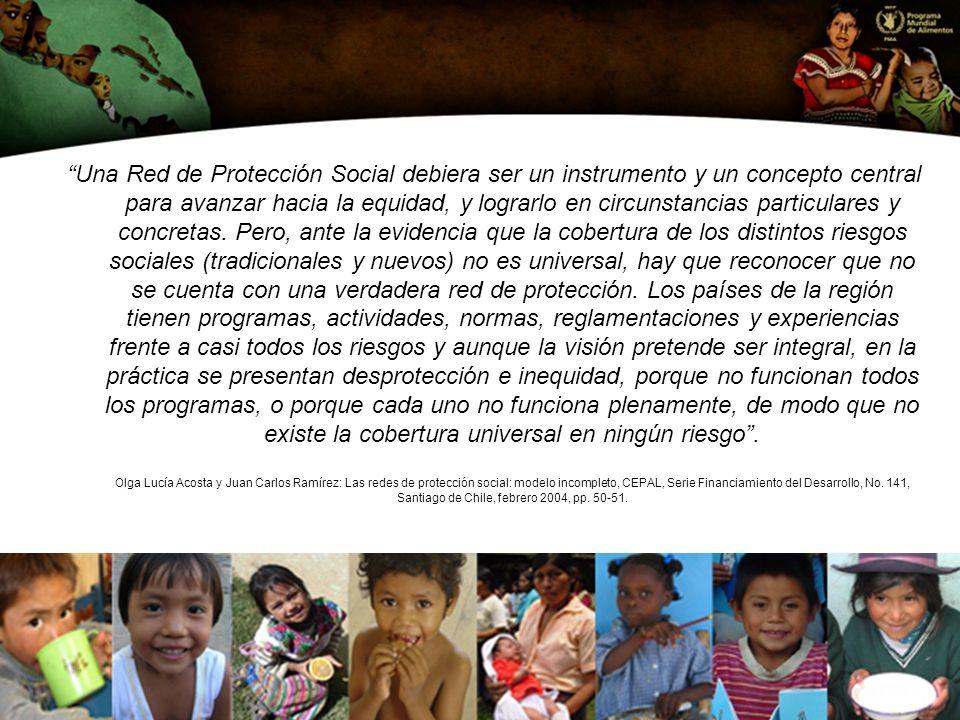 Una Red de Protección Social debiera ser un instrumento y un concepto central para avanzar hacia la equidad, y lograrlo en circunstancias particulares y concretas.