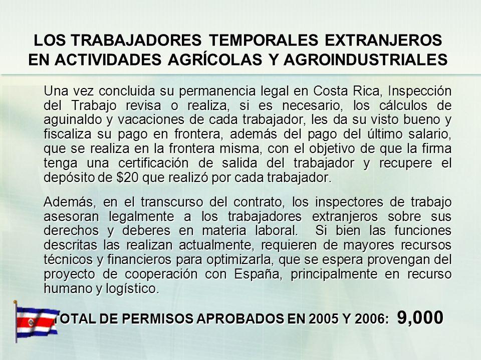 LOS TRABAJADORES TEMPORALES EXTRANJEROS EN ACTIVIDADES AGRÍCOLAS Y AGROINDUSTRIALES En función de este problema, Migración tiene un proyecto dentro de