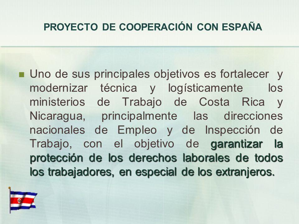 PROYECTO DE COOPERACIÓN CON ESPAÑA En estos momentos, se están empezando a promover los primeros contactos con la agencia de cooperación española, que