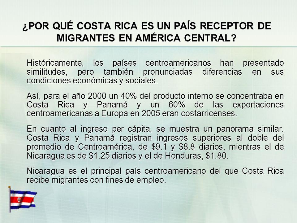 COSTA RICA: IMPORTANCIA DE LA MIGRACIÓN Según datos recopilados a nivel mundial, Costa Rica ocupa el noveno lugar a nivel mundial de población migrant