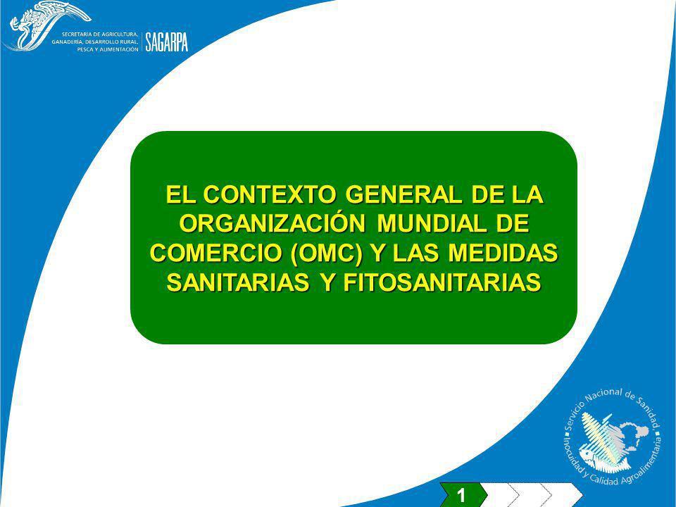 EL CONTEXTO GENERAL DE LA ORGANIZACIÓN MUNDIAL DE COMERCIO (OMC) Y LAS MEDIDAS SANITARIAS Y FITOSANITARIAS 1