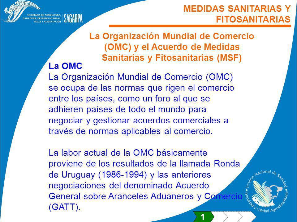 La OMC La Organización Mundial de Comercio (OMC) se ocupa de las normas que rigen el comercio entre los países, como un foro al que se adhieren países
