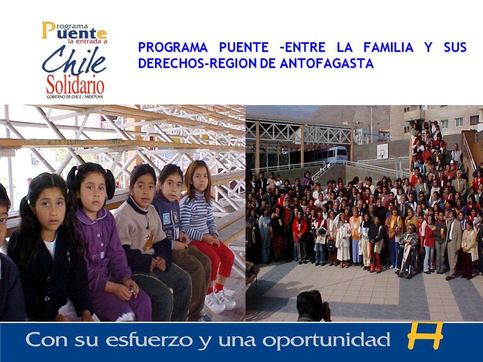 PROGRAMA PUENTE –ENTRE LA FAMILIA Y SUS DERECHOS-REGION DE ANTOFAGASTA