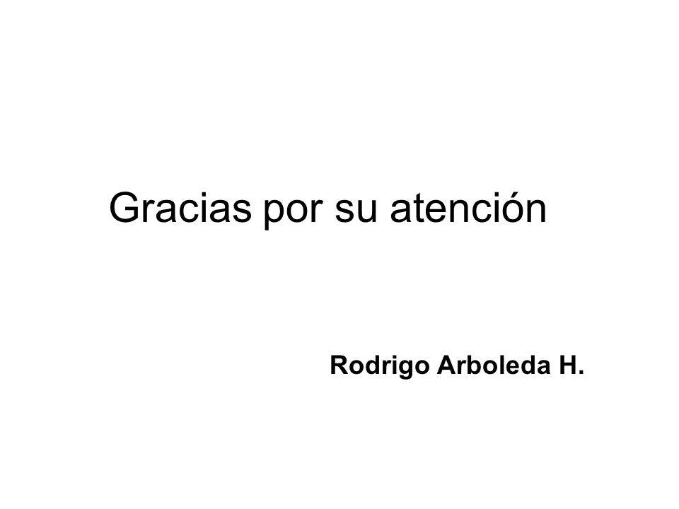 Gracias por su atención Rodrigo Arboleda H.