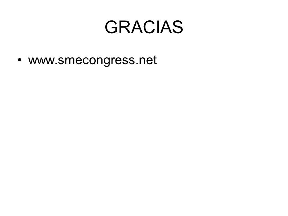 GRACIAS www.smecongress.net