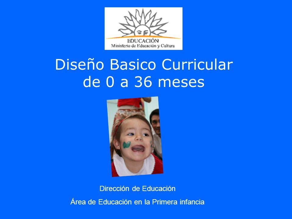 Diseño Basico Curricular de 0 a 36 meses Dirección de Educación Área de Educación en la Primera infancia