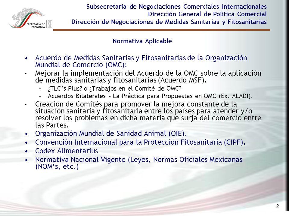 2 Acuerdo de Medidas Sanitarias y Fitosanitarias de la Organización Mundial de Comercio (OMC): -Mejorar la implementación del Acuerdo de la OMC sobre