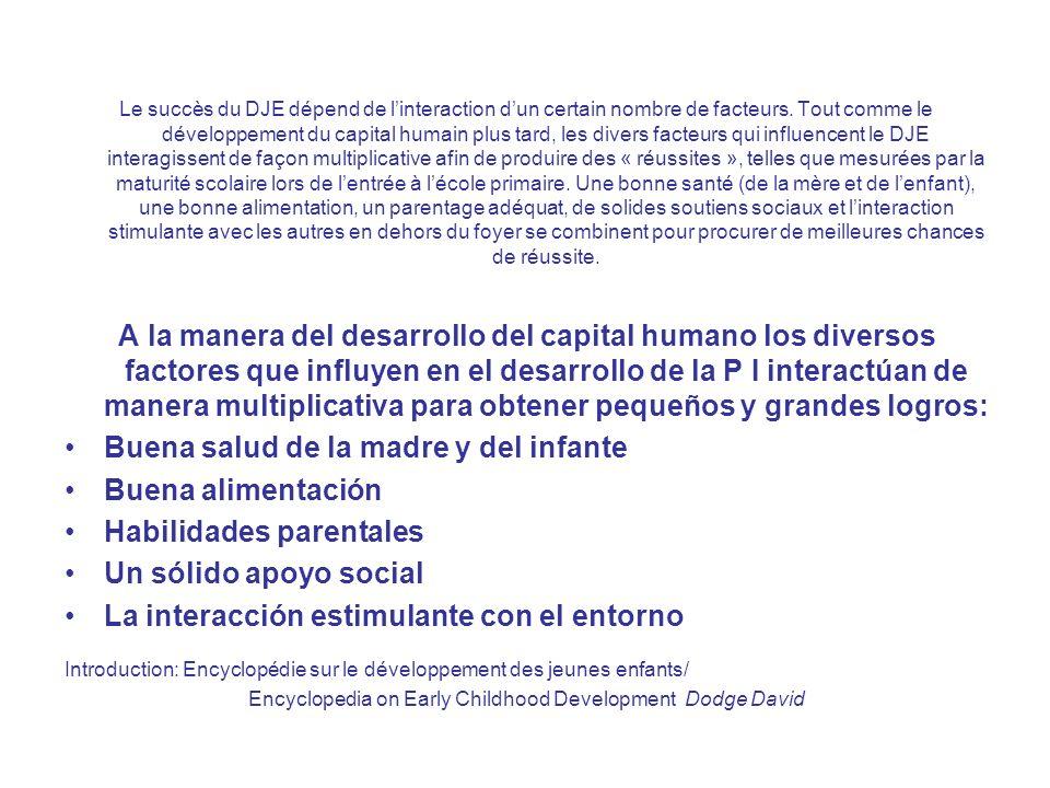 Le succès du DJE dépend de linteraction dun certain nombre de facteurs.