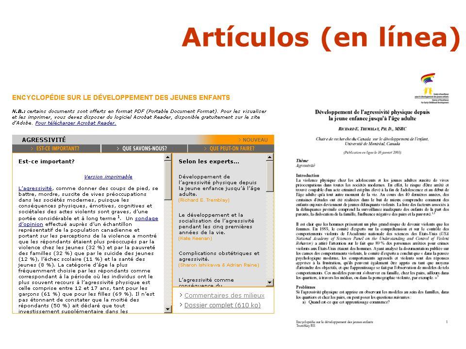 Artículos (en línea)